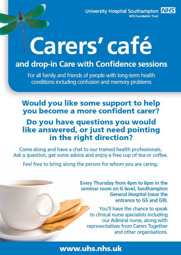 Carers Cafe at Southampton General Hospital | Carers in Southampton